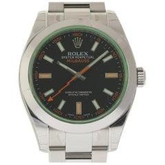 Rolex New Milgauss Green Crystal 116400 Steel 2018 Box/Paper/Warranty #RL68