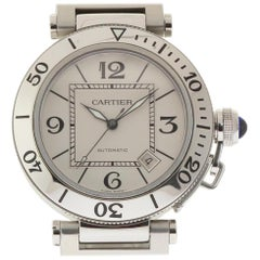 Cartier Pasha Seatimer W31080M7 Automatic Stainless Steel 2 Year Warranty #368