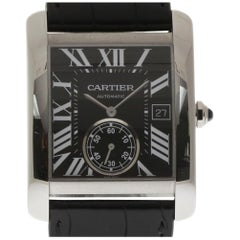 Cartier New Tank MC W5330004 Stainless Steel Leather Box/Papers/Warranty #CA50