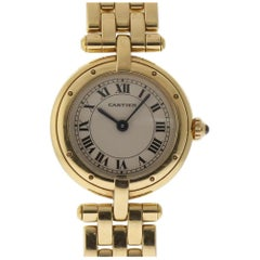 Cartier Panthere Ronde Ladies Yellow Gold Silver Quartz 2 Year Warranty #1821