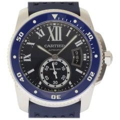 Cartier New Calibre Diver WSCA0011 Steel Rubber Blue Box/Paper/2 Year Warranty