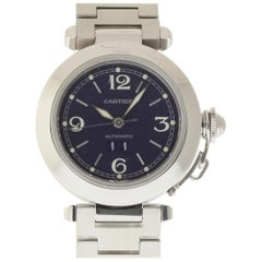 Cartier Pasha W31055M7 Stainless Steel Blue Automatic 2 Year Warranty #101-1