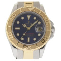 Rolex Yacht-Master 69623 Steel Gold Blue 1997 Box/Papers/2 Year Warranty #1389