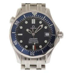 Omega Seamaster Midsize 168.1622.00 Steel Blue Wave Automatic 2 Year Warranty