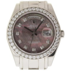 Rolex Day-Date 18946 Special Edition Masterpiece Platinum 40 Diamonds MOP #1676