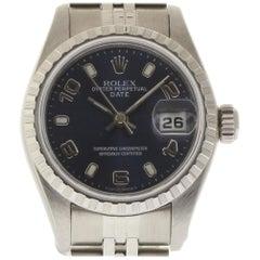 Rolex Date 79240 Blue Stainless Steel Jubilee 1999 Box/Paper/Warranty #20-2