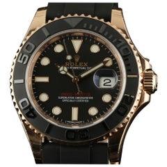 Rolex New Yacht-Master 116655 Black 18K Everose Gold Rubber