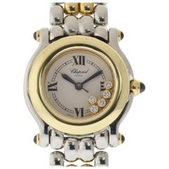 Chopard Happy Sport 27/8255-23 Floating Diamond Steel Yellow Gold Warranty #478