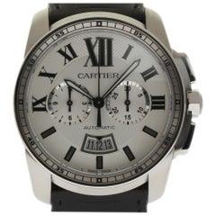 Calibre de Cartier New W7100046 Chronograph Automatic Box/Papers/Warranty #CA24