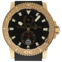 Ulysse Nardin New Maxi Marine Diver 266-33-3A/92 Gold Box/Paper/2 Year Warranty