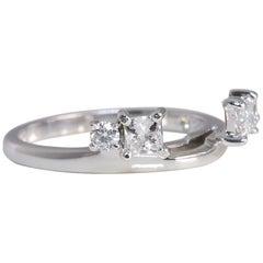 Leo Diamond .50 Carat Diamond 14 Karat White Gold Bridal Wrap Ring