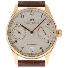 IWC New IW500113 Portuguese 18 Karat Rose Gold Leather Box/Paper/Warranty #IW11