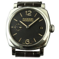 Panerai New Radiomir Black Brown Leather PAM00514 Box/Papers/Warranty #PM9