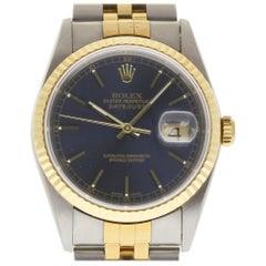 Rolex New Old Stock Datejust 16233 Steel Gold Blue Box/Paper/Warranty #RL97