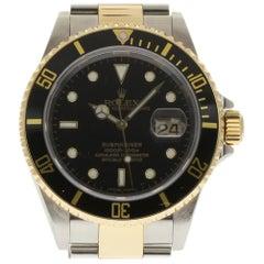 Rolex Submariner 16613 Steel Gold Black 2007 Box/Paper/2 Year Warranty #I1692