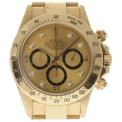 Rolex Daytona 16528 Zenith Yellow Gold Diamonds 1993 2 Year Warranty #100-1