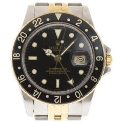 Rolex GMT Master 16753 Stainless Steel Gold Black 1980 2 Year Warranty #1588