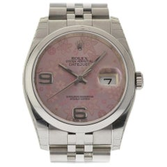 Rolex New Datejust 116200 Steel Floral Automatic Box/Paper/5 Year Warranty