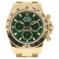 Rolex New Daytona 116508 Yellow Gold Green 2018 Box/Papers/5 Year Warranty