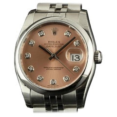 Rolex New Datejust 116200 Steel Diamond Automatic Box/Paper/5 Year Warranty