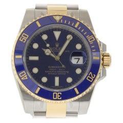 Rolex New Submariner 116613 Steel Gold Ceramic Blue Box/Paper/5 Year Warranty