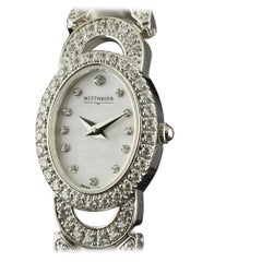 Wittnauer A4 Stainless Steel MOP Dial Swarovski Crystals 2 Years Warranty #1672