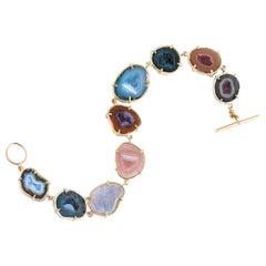 Karolin Bracelet Agate Geode in 18 Karat Rose Gold