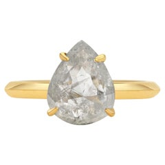 Rachel Boston 18ct Yellow Gold and Pear Rose Cut Imperfect Diamond Ring