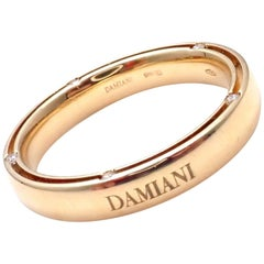 Damiani and Brad Pitt 10 Diamond Yellow Gold Band Ring