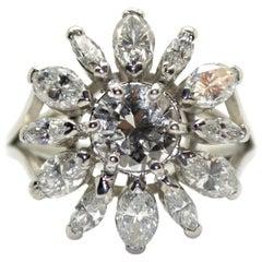 1.50 Carat Diamonds 18 Karat White Gold Engagement Ring