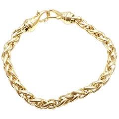 David Yurman Wheat Link Yellow Gold Bracelet