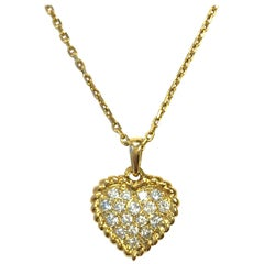 Van Cleef & Arpels Diamond Gold Heart Necklace