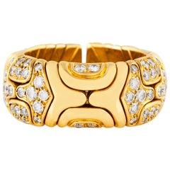 Bvlgari Alveare Diamond Gold Band