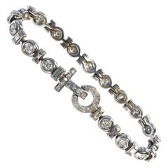 4.5 Carat of Diamonds White Gold Stylized Tennis Bracelet