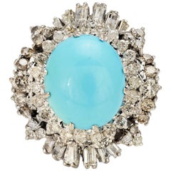Persian Turquoise Cocktail Ring