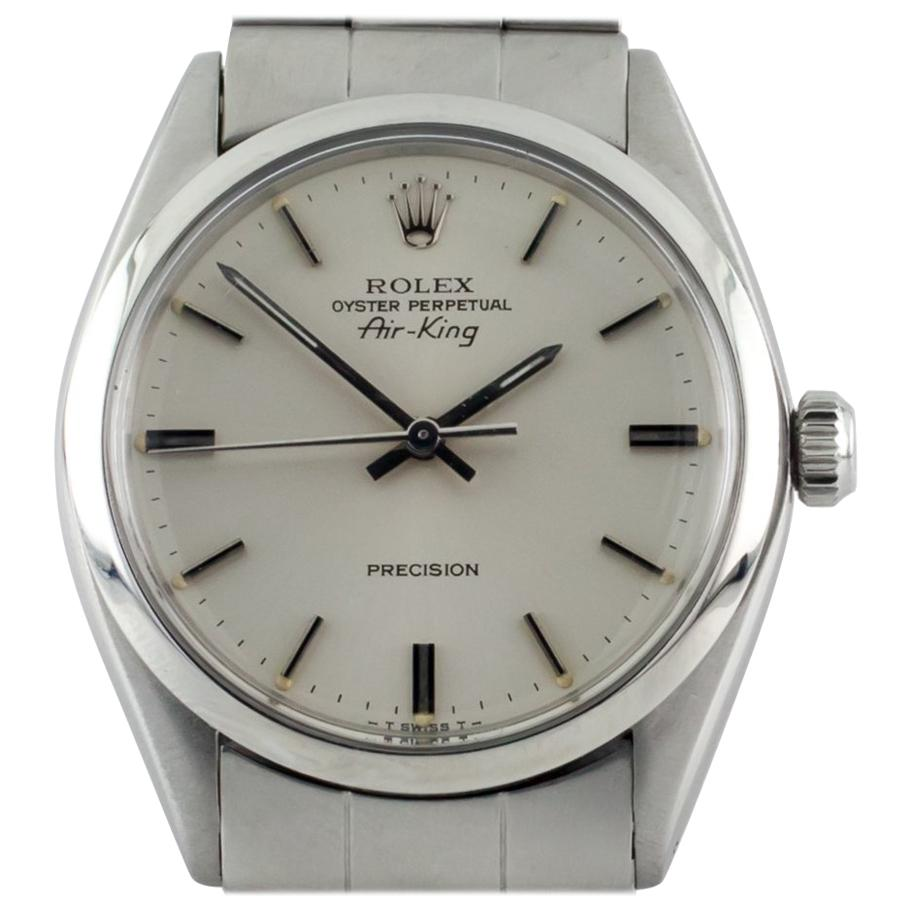 Rolex Air King Oyster Perpetual SS Men's Automatic Watch 5500 1979