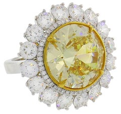 Fancy Intense Yellow Diamond White Gold Ring 10.04 Carat VS2 GIA