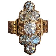 Victorian 1.50 Carat of Diamonds Rose Gold Ring