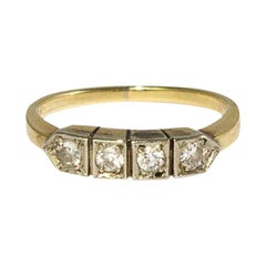 Brilliant Ring in Yellow Gold, 1930s
