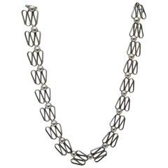 Design-Halskette Silber Skandinaviens