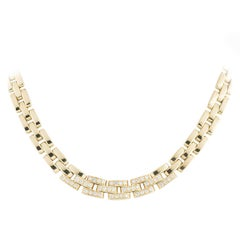 Cartier Yellow Gold Diamond Panthere Maillon Necklace