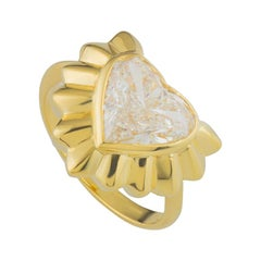 Certified Garrard Yellow Gold Heart Diamond Ring 2.68 Carat