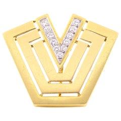Cartier Gold Diamond Pin
