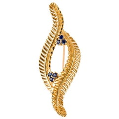 Vintage Tiffany & Co. Brooch with Sapphires