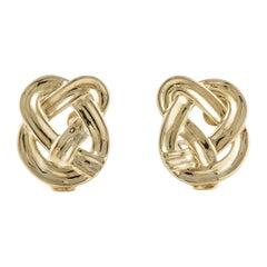Angela Cummings for Tiffany & Co. 18K  Pretzel Earrings