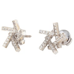 Frank Gehry for Tiffany & Co. Axis Diamond Earrings