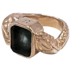 Black Onyx Double Snake Head Statement Ring J DAUPHIN