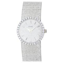 Piaget Lady 18 Karat White Gold, Diamond Wristwatch, Hand Winding Movement