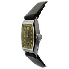 Stylish Art Deco 1930s Gents Wristwatch