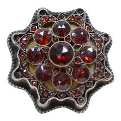 Jill Garber Antique Victorian Style Rose Cut Bohemian Garnet Starburst Ring